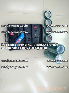 HOT KNIFE FOR TRIMMING INTERLAYER FILM for laminated safety glass glazing (14)