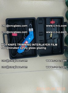 HOT KNIFE FOR TRIMMING INTERLAYER FILM for laminated safety glass glazing (19)