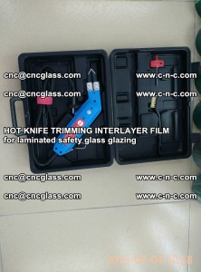 HOT KNIFE FOR TRIMMING INTERLAYER FILM for laminated safety glass glazing (20)