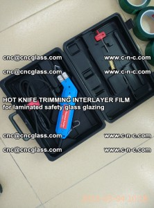 HOT KNIFE FOR TRIMMING INTERLAYER FILM for laminated safety glass glazing (25)