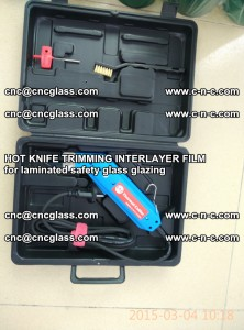 HOT KNIFE FOR TRIMMING INTERLAYER FILM for laminated safety glass glazing (26)