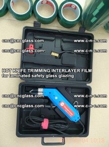 HOT KNIFE FOR TRIMMING INTERLAYER FILM for laminated safety glass glazing (35)