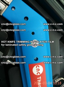 HOT KNIFE FOR TRIMMING INTERLAYER FILM for laminated safety glass glazing (65)