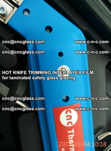 HOT KNIFE FOR TRIMMING INTERLAYER FILM for laminated safety glass glazing (67)